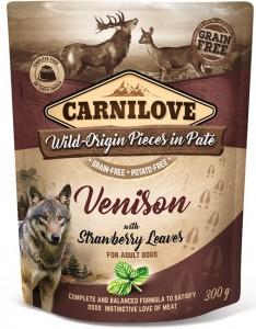 Carnilove - Pouch Hertenvlees met aardbeibladeren