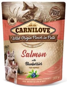 Carnilove - Pouch Zalm met bosbessen voor puppy's