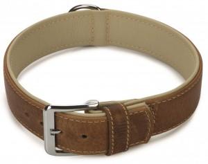 Beeztees - Leren Halsband Comfort Bruin